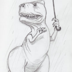 05 Dinosaur in the Rain