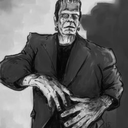 Glenn Strange as Frankenstein's Monster