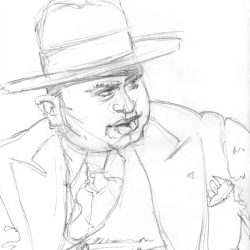 Al Capone Pencil Drawing