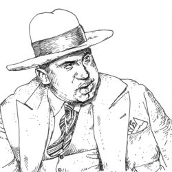 Al Capone Sharpie Pen Drawing