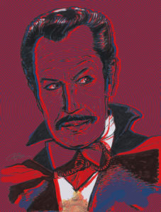 Vincent Price as Dracula