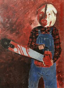 Motel Hell Painting