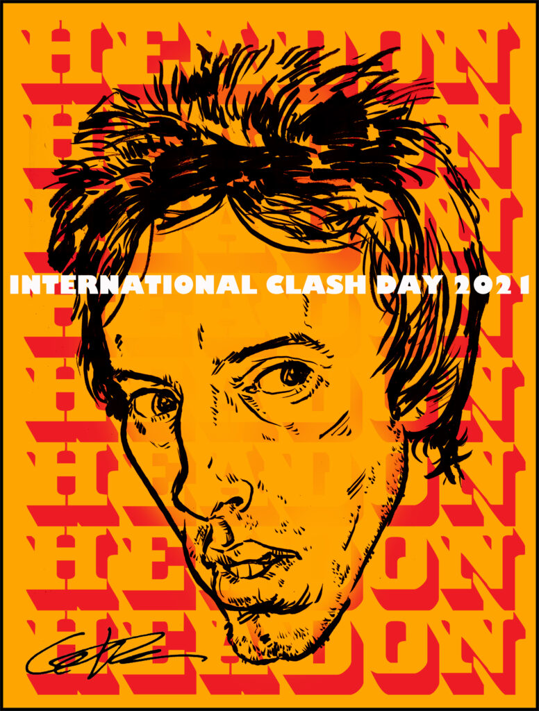 Clash Day Poster 2021 Topper Headon