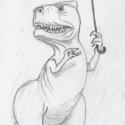 05 Dinosaur in the Rain
