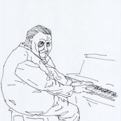 135 Fat Man Wearing A Monocle Playing The Piano