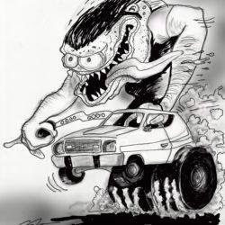 34 Hot Rod Monster