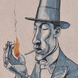 168 Debonair Smoking Man