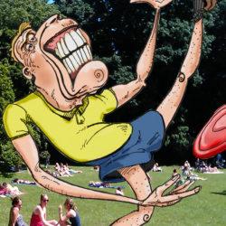 151 Goofy Man Plays Frisbee