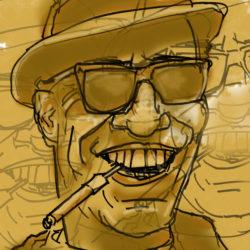 165 Man Smoking A Tiparillo
