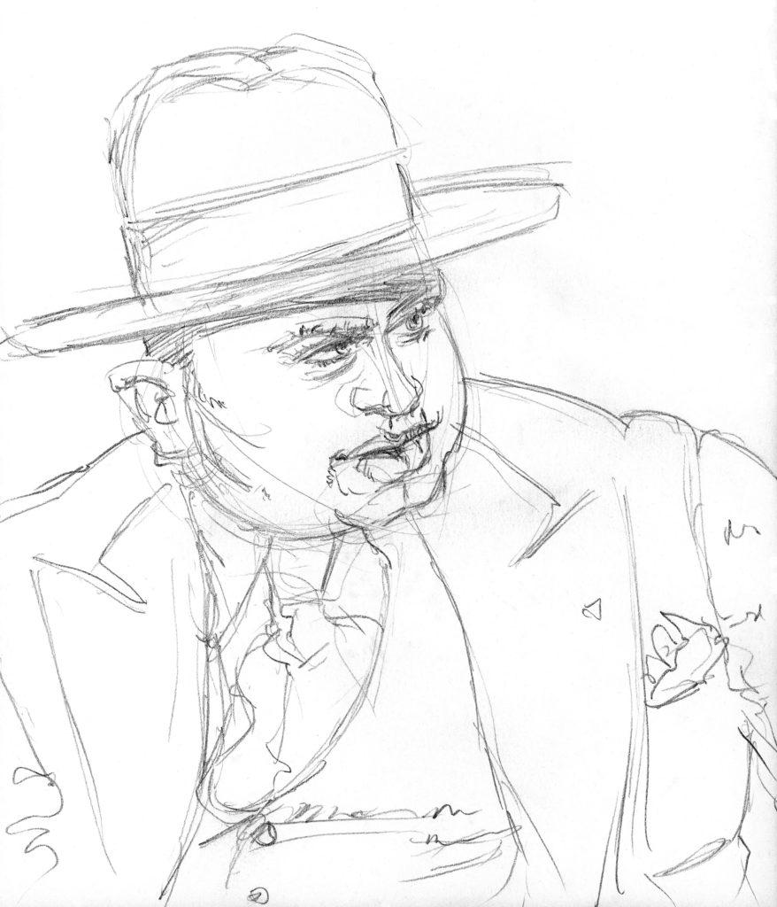 Al Capone Pencil Drawing