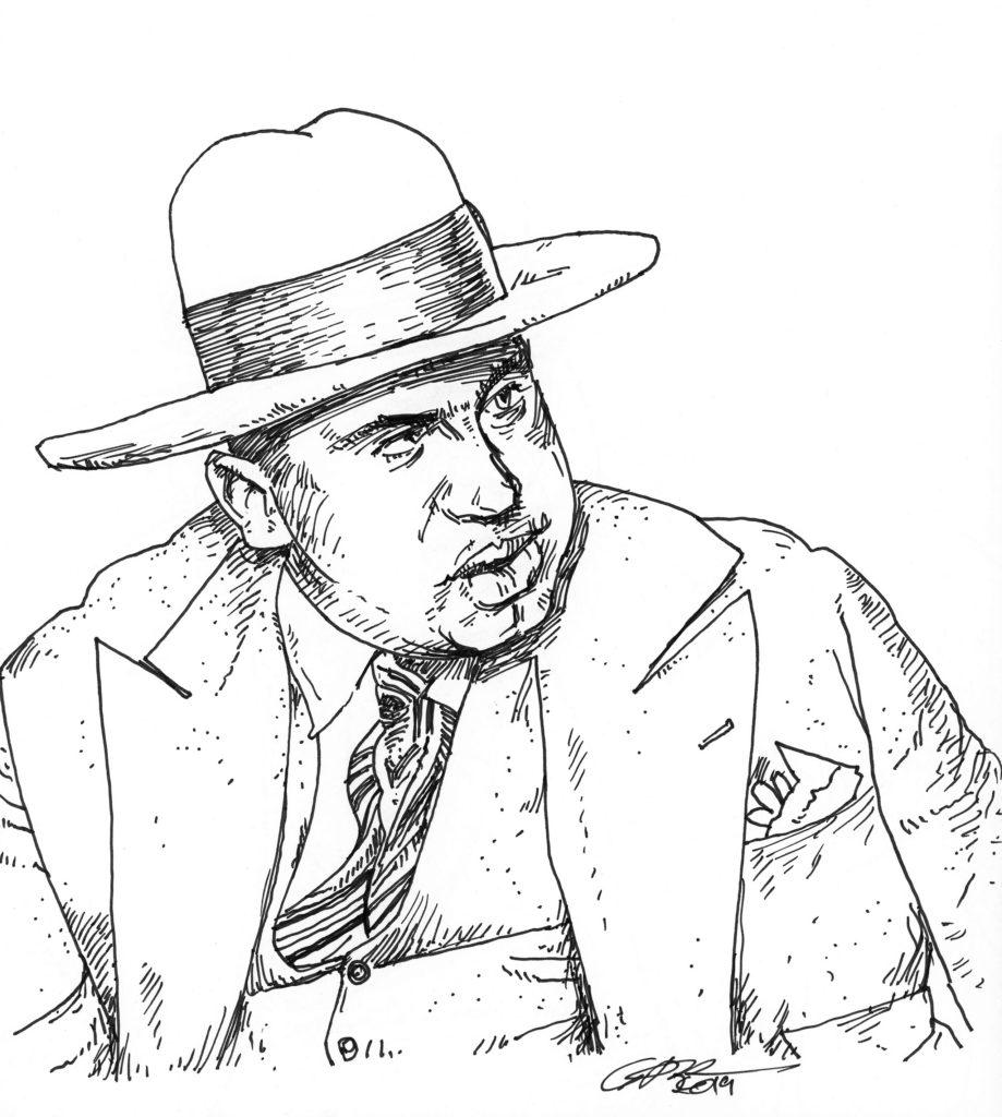 Al Capone Sharpie Pen Drawing