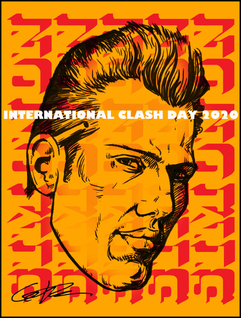 Clash Day Poster 2020 Paul Simonon